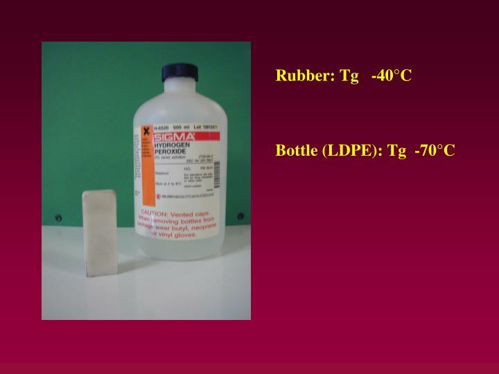 Rubber: Tg   -40°C