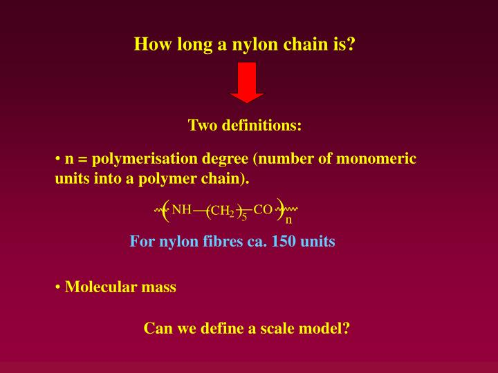 How long a nylon chain is?