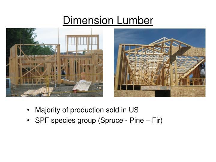 Dimension Lumber