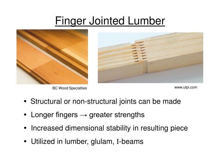 Finger Jointed Lumber