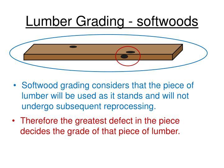 Lumber Grading - softwoods