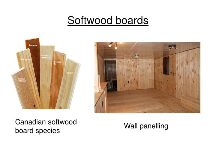 Softwood boards