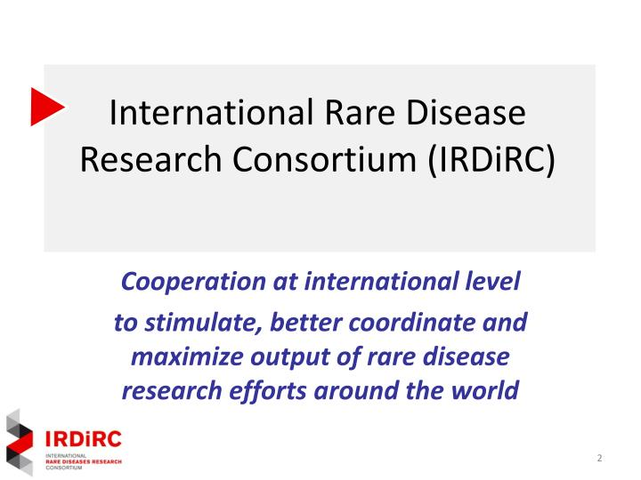 International rare disease research consortium irdirc