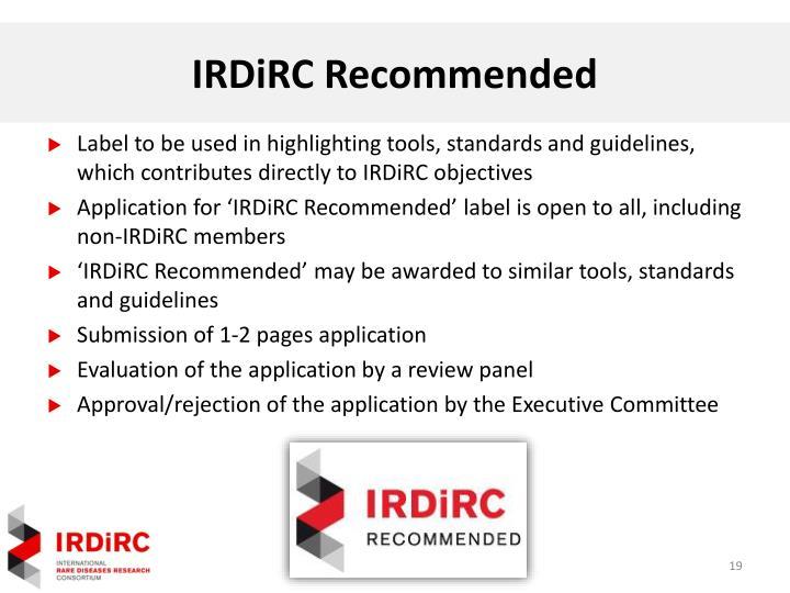IRDiRC Recommended