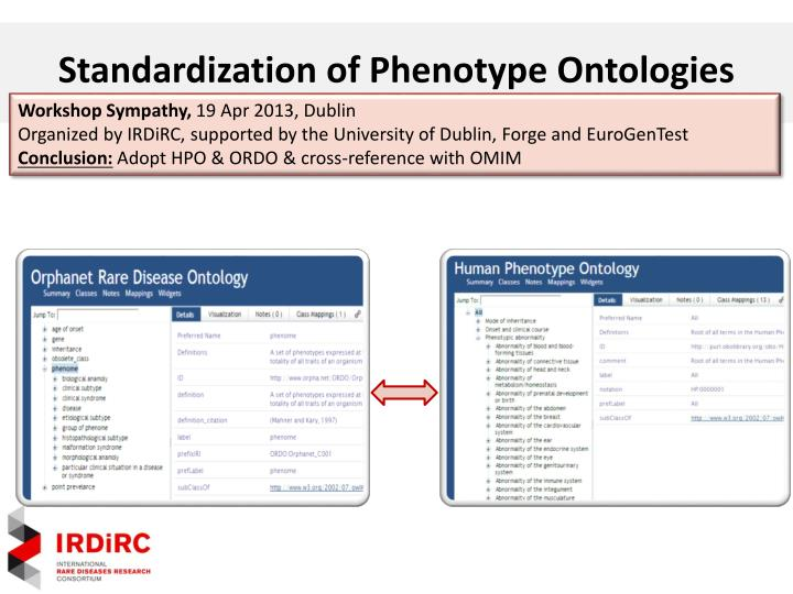 Standardization of Phenotype