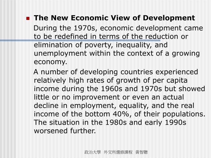 The New Economic View of Development