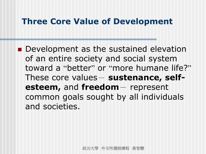 Three Core Value of Development