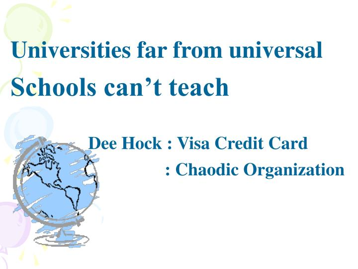 Universities far from universal