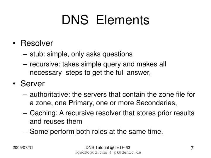 DNS  Elements