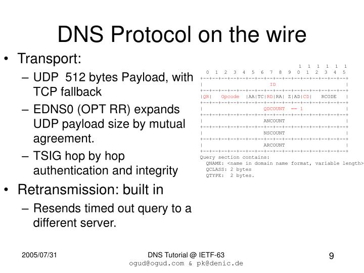 DNS Protocol on the wire