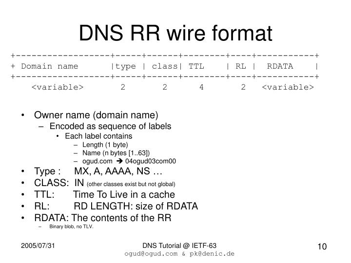 DNS RR wire format