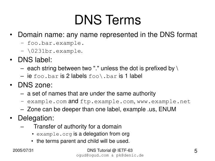 DNS Terms