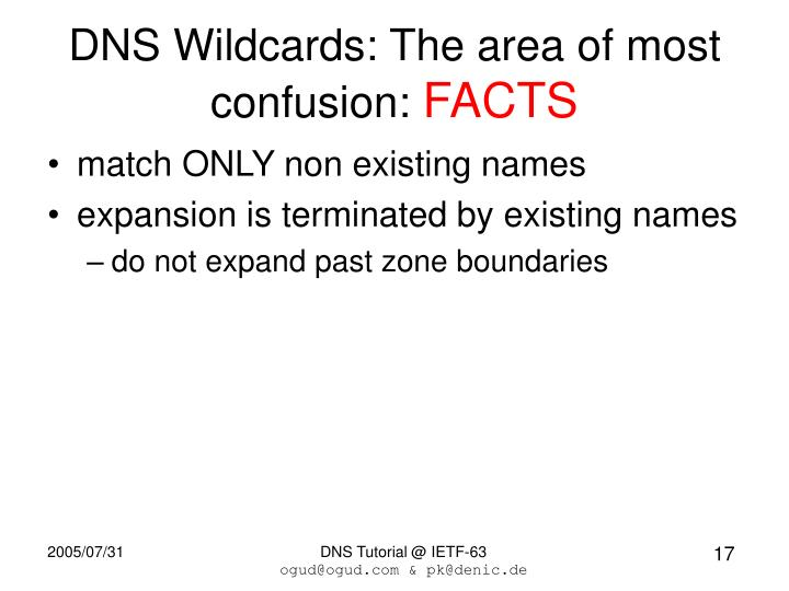 DNS Wildcards: The area of most confusion: