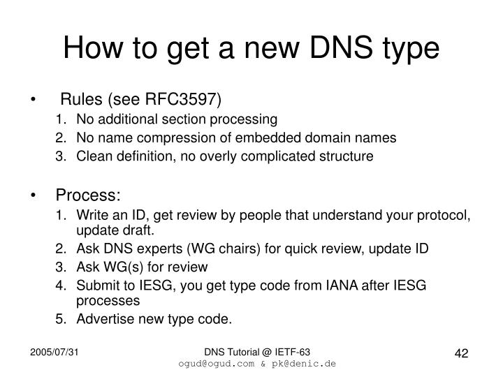 How to get a new DNS type