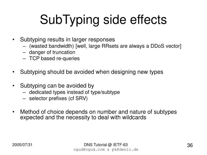 SubTyping side effects