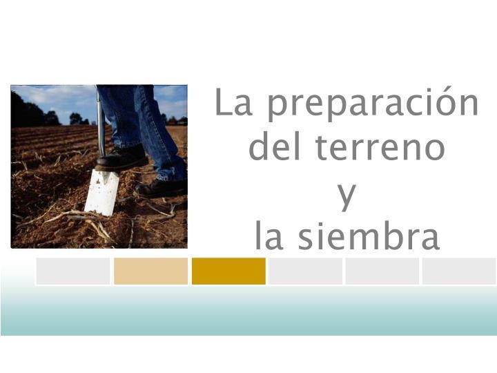 La preparación del terreno