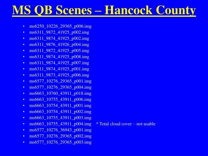 MS QB Scenes – Hancock County