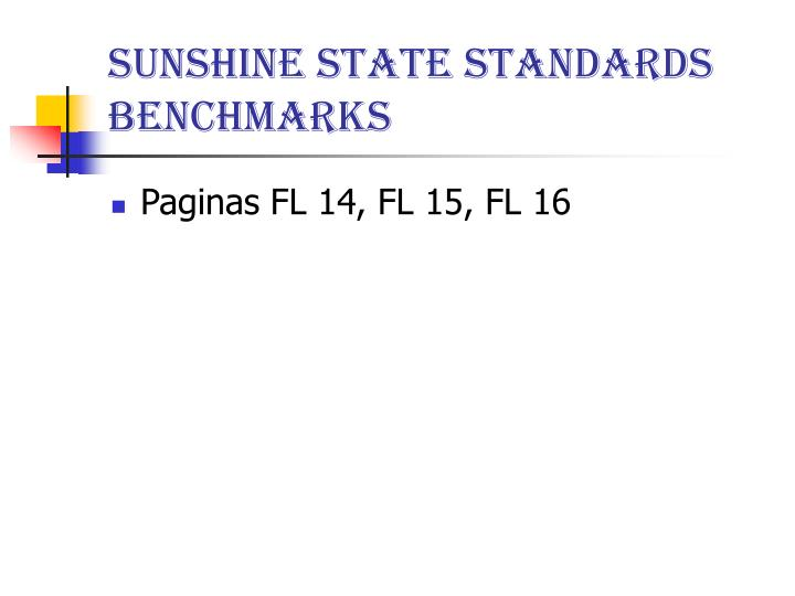 Sunshine State Standards