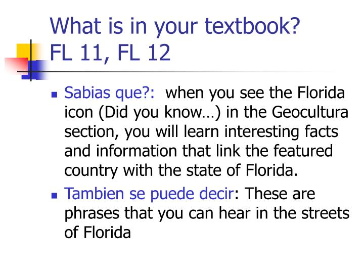 What is in your textbook?