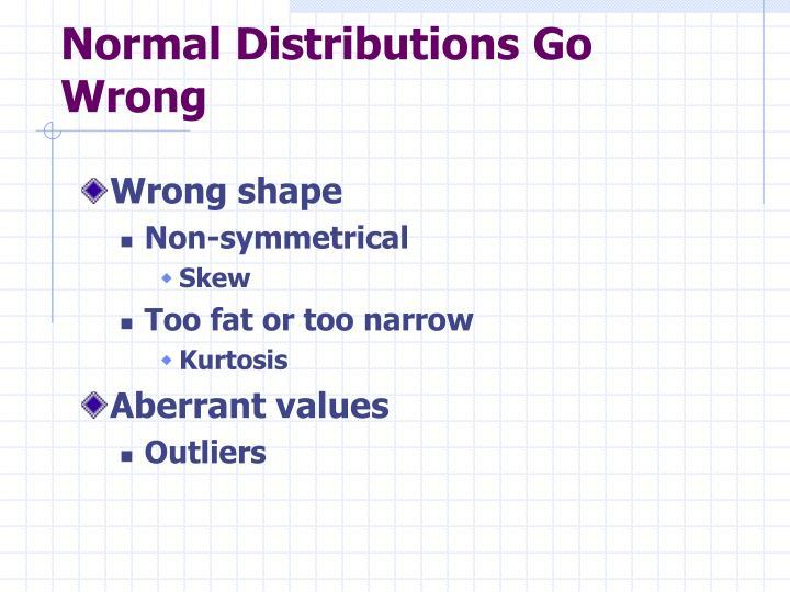 Normal Distributions Go Wrong