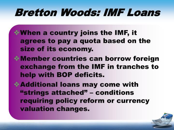 Bretton Woods: IMF Loans