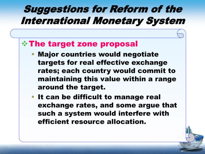 Suggestions for Reform of the International Monetary System