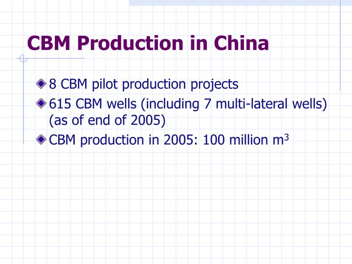 CBM Production in China