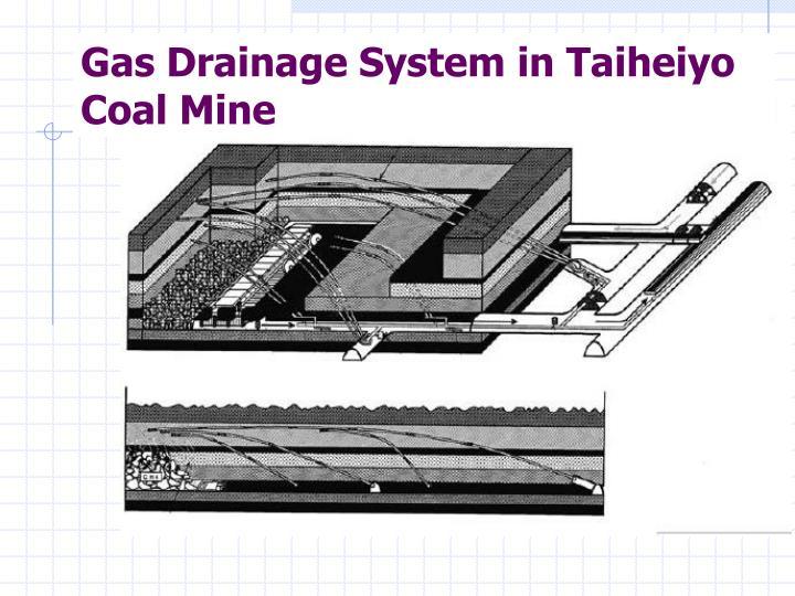 Gas Drainage System in Taiheiyo Coal Mine
