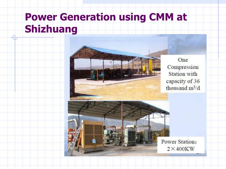 Power Generation using CMM at Shizhuang