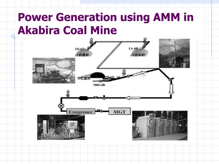 Power Generation using AMM in Akabira Coal Mine