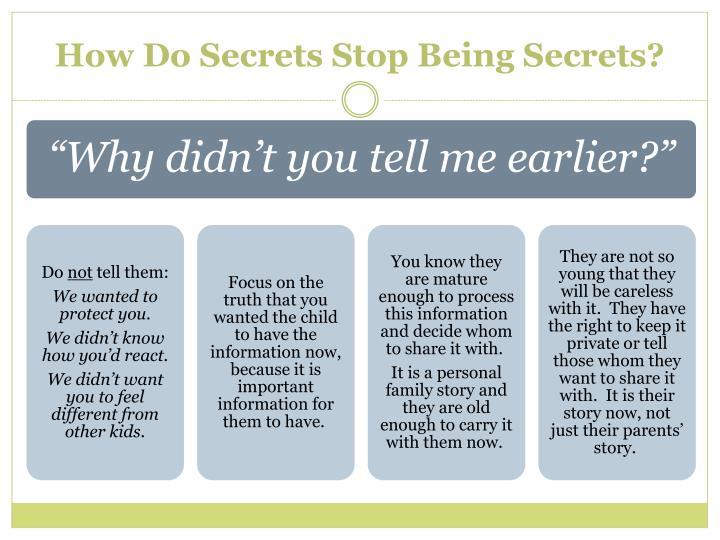 How Do Secrets Stop Being Secrets?
