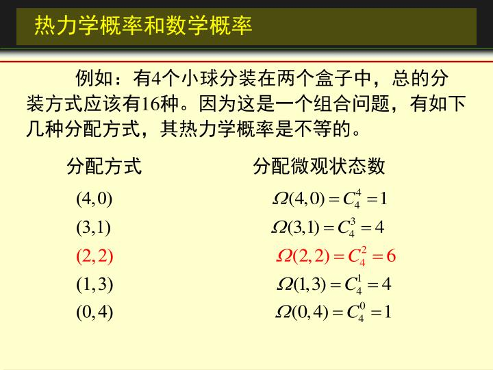 热力学概率和数学概率