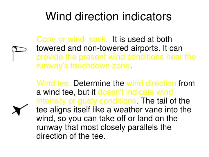 Wind direction indicators
