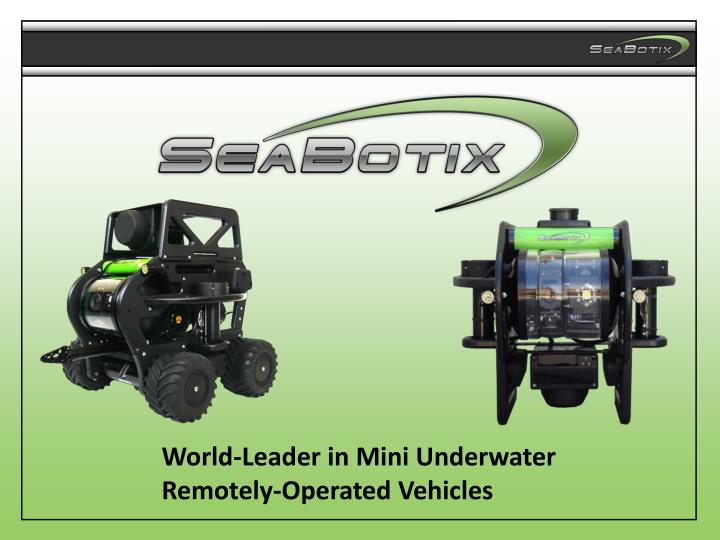 World-Leader in Mini Underwater