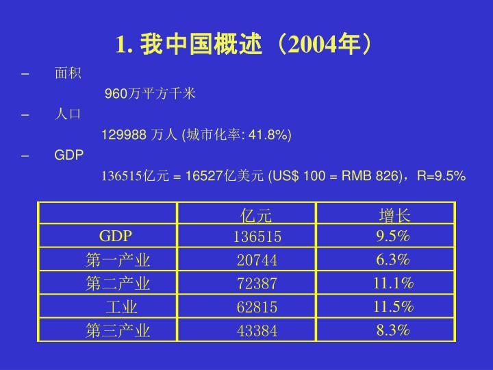 1. 我中国概述(2004年)