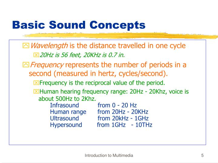 Basic Sound Concepts