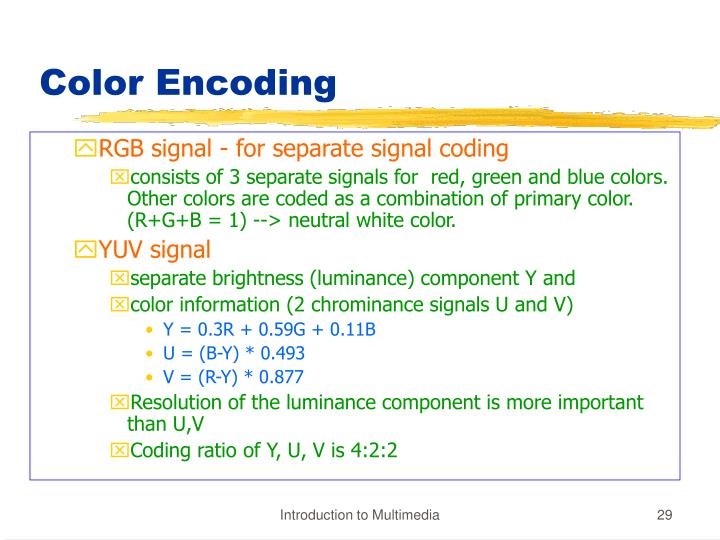 Color Encoding