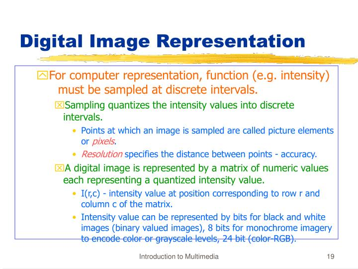 Digital Image Representation