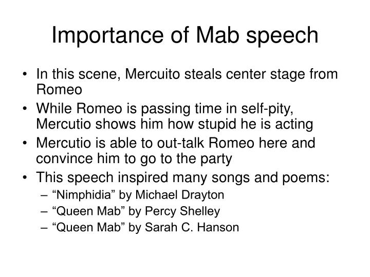 Importance of Mab speech