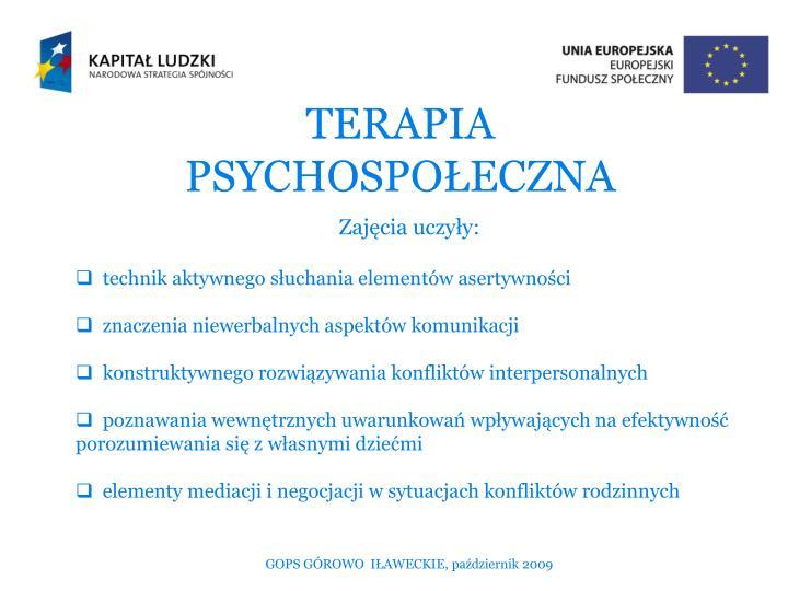TERAPIA PSYCHOSPOŁECZNA