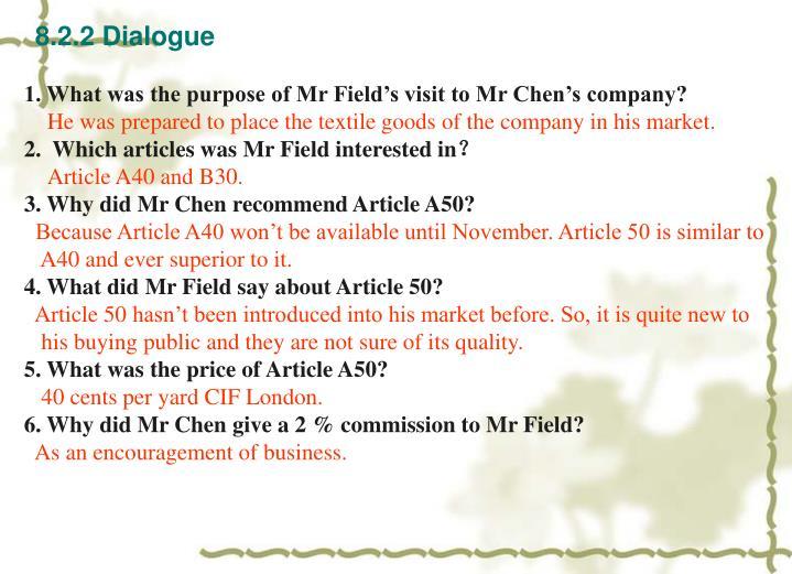 8.2.2 Dialogue