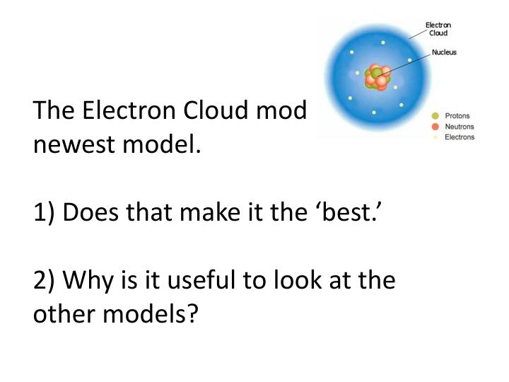 The Electron Cloud model is the newest model.