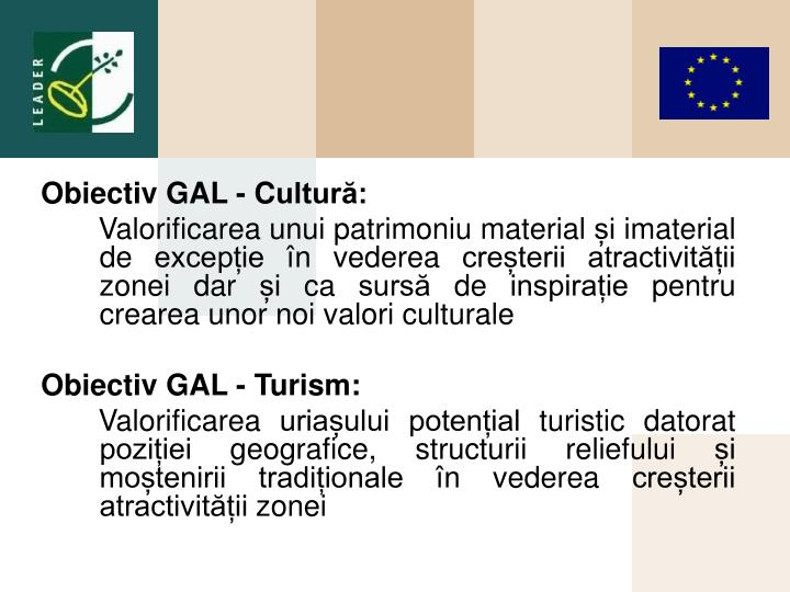 Obiectiv GAL
