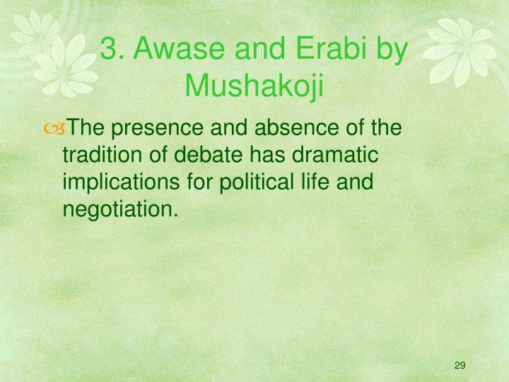 3. Awase and Erabi by Mushakoji
