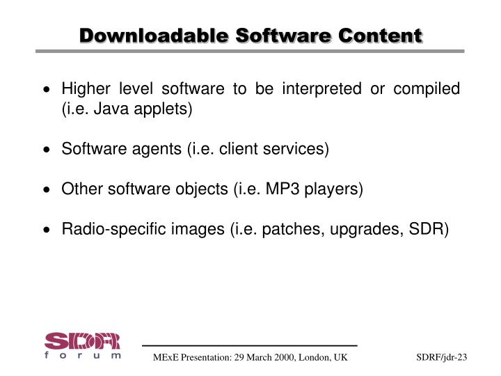 Downloadable Software Content