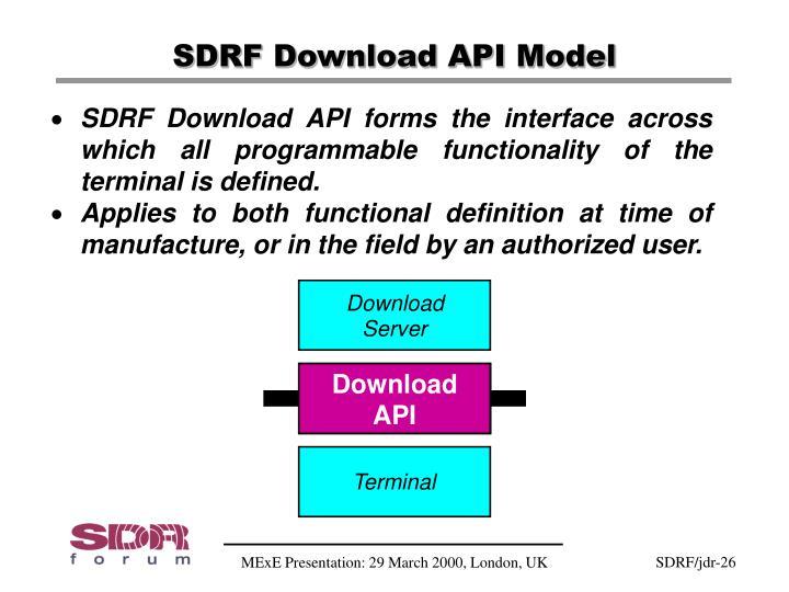 SDRF Download API Model