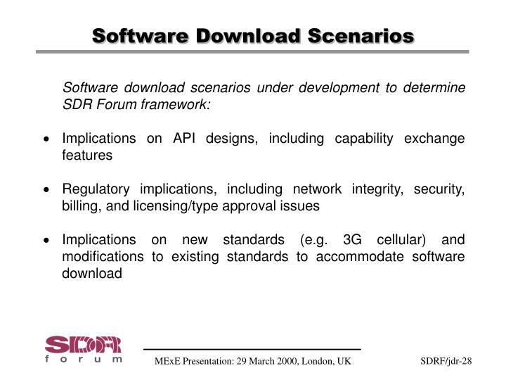 Software Download Scenarios