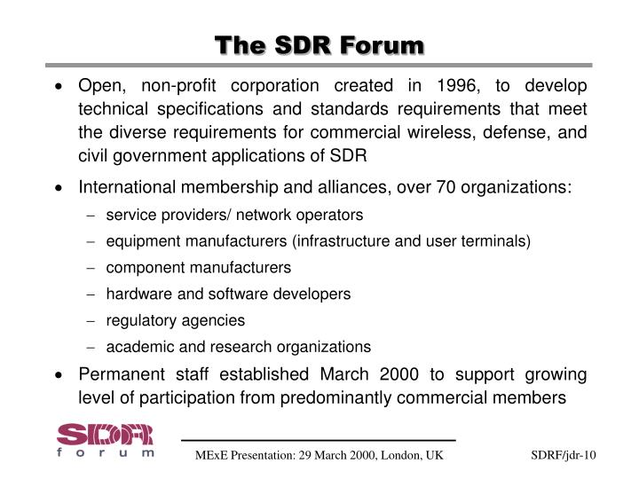 The SDR Forum