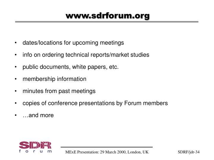 www.sdrforum.org