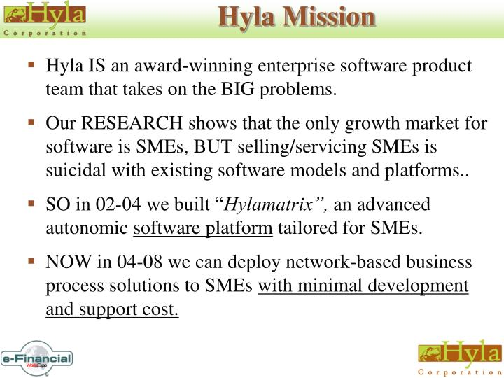 Hyla Mission